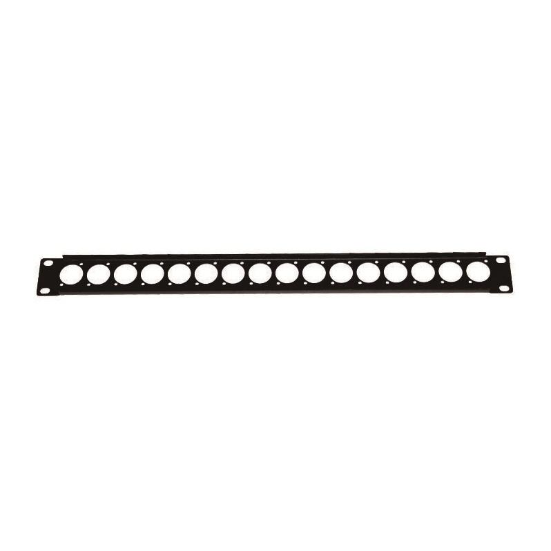 1U Rack Panel for 16x D-Size Speakon/XLR Connectors
